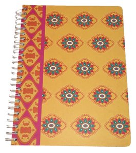 Cynthia Rowley CYNTHIA ROWLEY NOTEBOOK - perforated lined sheets, pockets, spiral bound - Beautiful Stationery NEW