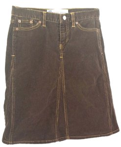 Gap Corduroy Jeans Mini Skirt Brown
