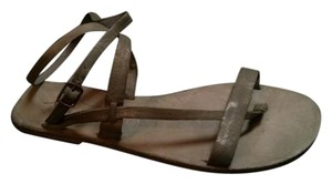 Free People Washed Sage Sandals