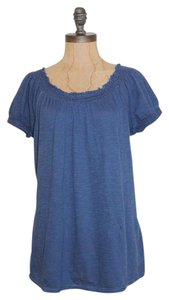 Joe Fresh Summer Peasant Relaxed Top BLUE
