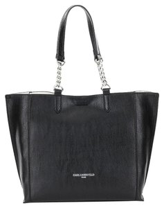 Karl Lagerfeld Tote in Black/White