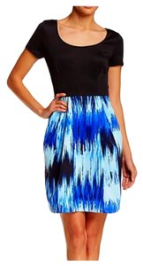 Betsey Johnson short dress Black, Royal Blue on Tradesy