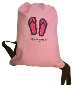 Life is Good Drawstring Backpack
