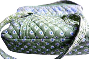 Vera Bradley Tote in Green with blue design