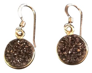 Bezzelled druzzy earrings on gold plate