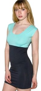 American Apparel short dress Two-Tone Fitted Mini Bodycon Tight on Tradesy