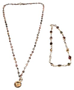 Tourmaline necklace & bracelet set