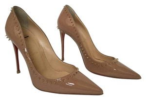 Christian Louboutin Spiked New Never Wor Store Display Stunning Nude Pumps