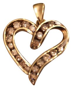 Other Price Just Reduced! Price Just Reduced! 14K Yellow Gold Heart Diamond Pendant