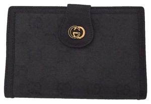 Gucci Vintage Gucci Wallet with Kiss Lock Black