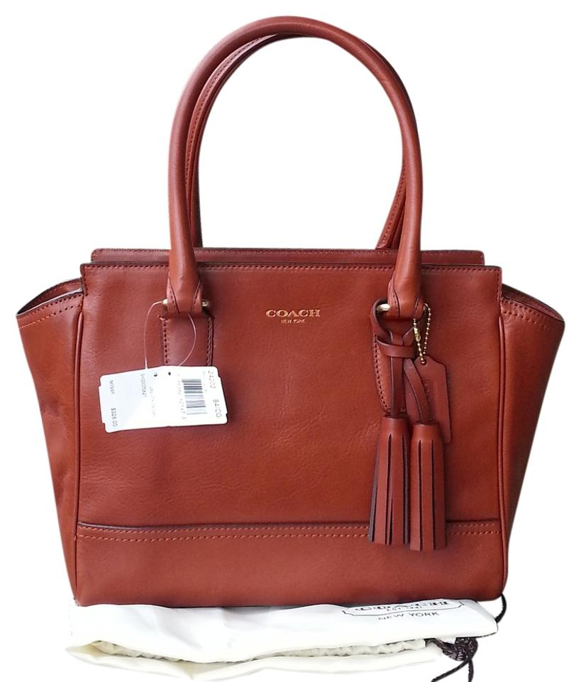 Coach Carryall Legacy Candace 24202 In Cognac Leather
