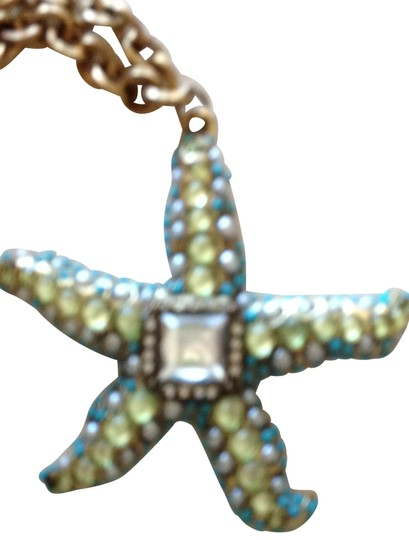 Preload https://item2.tradesy.com/images/chico-s-blue-green-and-brass-starfish-necklace-175206-0-0.jpg?width=440&height=440