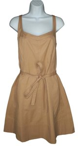 Talbots short dress Cotton Twill Sash on Tradesy