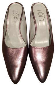 Ann Taylor LOFT Low Heel Open Back Copper Pumps