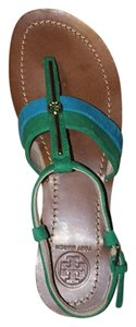 Tory Burch Green and Blue Sandals