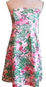 Lilly Pulitzer short dress pink with white and green on Tradesy