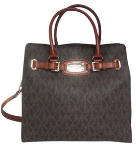 Michael Kors Hamilton Tote in Brown PVC