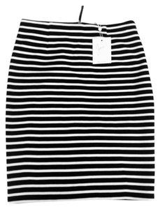 Joie Striped Skirt Black and white