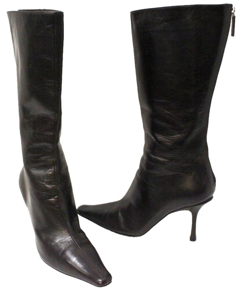 Jimmy Choo Brown Dark Brown Choo Signature Orchid Caffee Aden Tall Boots/Booties 0260e2