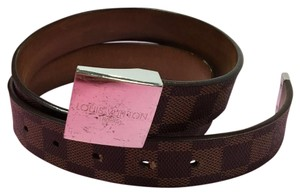 Louis Vuitton Louis Vuitton logo leather belt
