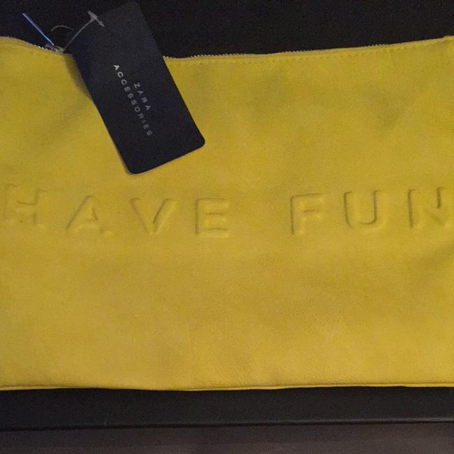 Item - Non-stop Summer Yellow Faux Leather Clutch