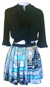 Morgan de Toi Chanel Style Pleated Skirt Multi
