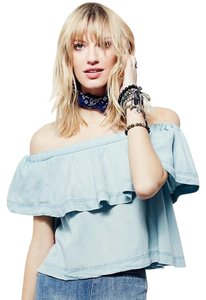 Free People Top Blue Sky Wash