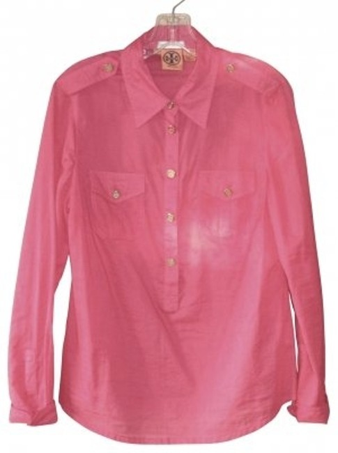 Preload https://item4.tradesy.com/images/tory-burch-pink-button-down-blouse-size-12-l-17523-0-0.jpg?width=400&height=650