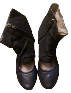 OTBT Ballet Flat Womens Flats Womens Niles Leather Leather Leather Ankle Size 7.5 black Boots