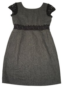 J.Crew Sheath Tweed Crochet ;ace Gray Dress