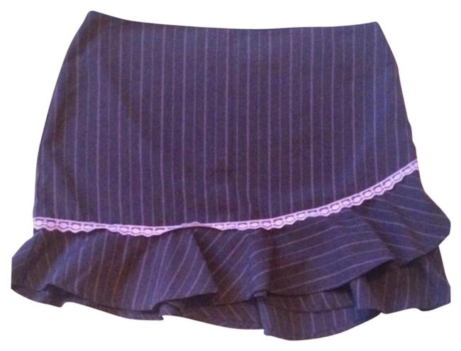 Item - Gray Pink Striped Skirt Size 6 (S, 28)
