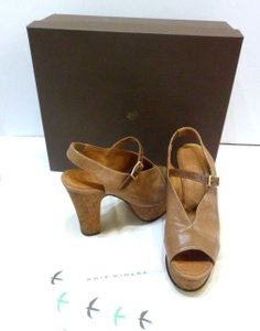 Chie Mihara Wedges Brown Platforms