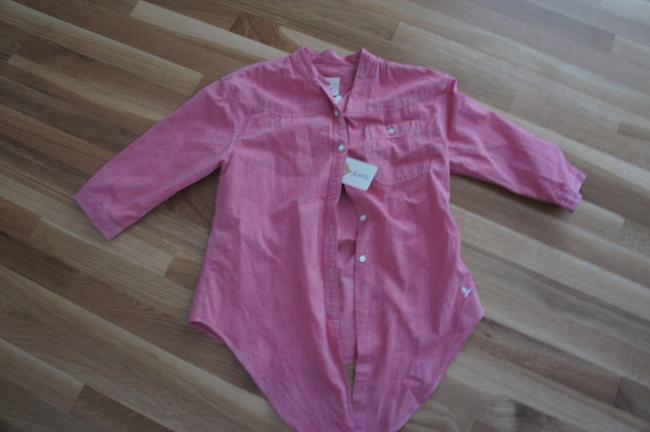 MiH Jeans 8713304 Button Down Shirt Red