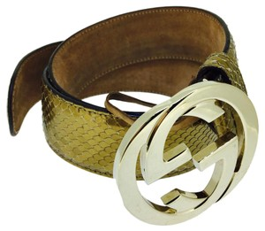 Gucci GUCCI GOLD COLOR LEATHER BELT