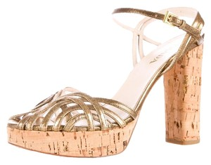 Prada gold metalic Sandals