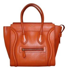 Céline Mini Luggage Micro-mini Tote in Orange