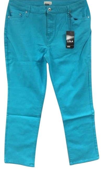 Item - Turquoise New Skinny Jeans Size 33 (10, M)