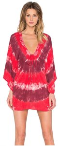 Blue Life short dress Red Tie Dye Summer Coverup Tiedyemini on Tradesy