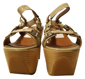 Lanvin Platform Patent Leather Beige Platforms