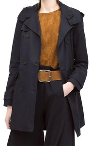Zara Classic Trench Hooded Pockets Trench Coat