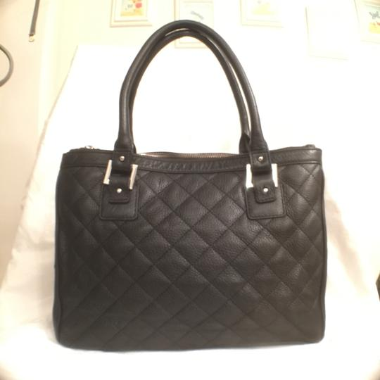 Calvin Klein Tote Large Quilted Leather Black Satchel On