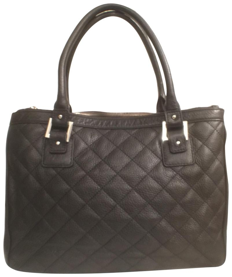 03b8d85c3a7de Calvin Klein Purse Handbag Shoulder Tote Quilted Satchel in Black Image 0  ...