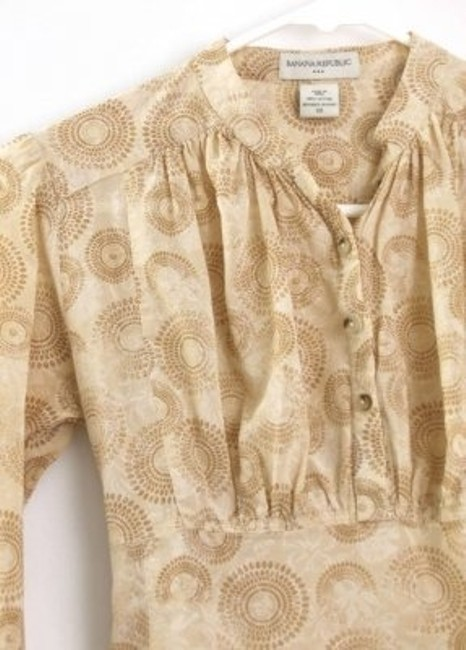 Banana Republic Brown Tan Boho Size Xs 0 Top