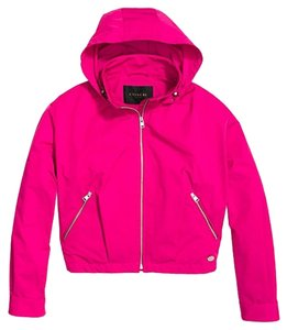Coach Windbreaker Fuschia Jacket