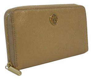 Tory Burch Tory Burch Wallet - Robinson Multi Zip Continental Toasted Wheat Clutch