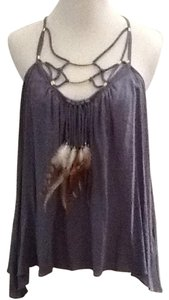 Rebecca Taylor Feathers New Top Blue