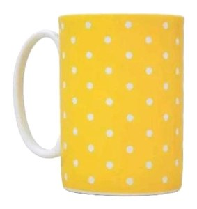 Kate Spade Kate Spade Lenox Mug larabee dot yellow BRAND NEW IN RETAIL BOX