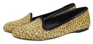 Bottega Veneta Leatherpony Hair Cheetah Beige Flats