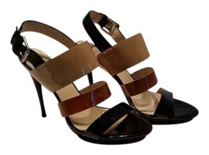 Michael Kors Heels Black, Tan, Nude Patent Leather Sandals