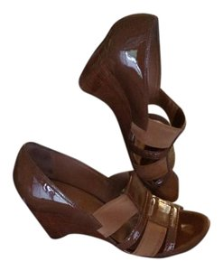 Franco Sarto Wedge Sandal Brown/Light Brown Sandals